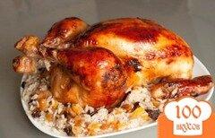 Фото рецепта: «Курица, фаршированная рисом и сухофруктами»