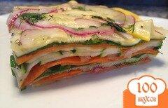 Фото рецепта: «Слоеный салат с морковью»