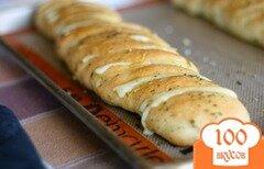 Фото рецепта: «Хлеб с сыром и чесночным маслом»