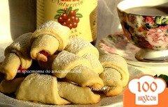Фото рецепта: «Печенье с брусничным соусом»