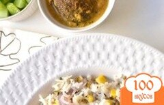 Фото рецепта: «Рисовый плов с кукурузой»