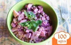 Фото рецепта: «Салат со свеклой и картошкой»