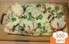 Фото рецепта: «Пицца на слоеном тесто с отварной говядиной»