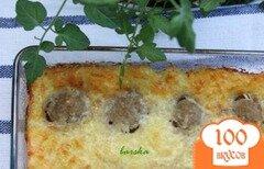 Фото рецепта: «Кабачковая запеканка с фрикадельками»