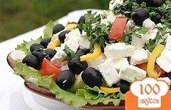 Фото рецепта: «Греческий салат с фетаксой»