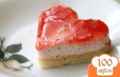 Фото рецепта: «Кокосово-клубничное пирожное»