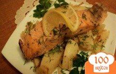 Фото рецепта: «Семга запеченная с овощами в фольге.»