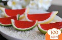 Фото рецепта: «Желе из цитрусовых с водкой»