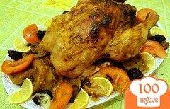 Фото рецепта: «Курица с яблоками и черносливом»