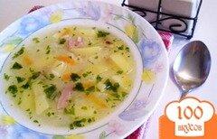 Фото рецепта: «Рисовый суп на копченой ножке»