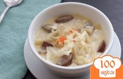 Фото рецепта: «Немецкий суп с колбасками»