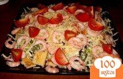 Фото рецепта: «Воздушный салат с креветками»