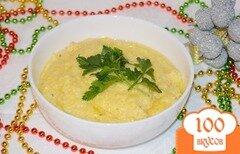 Фото рецепта: «Кукурузная каша с травами и сырами»