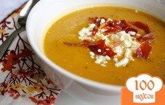 Фото рецепта: «Суп с тыквой сквош, Прошутто и козьим сыром»