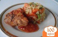 Фото рецепта: «Курица в томате с мексиканским рисом»