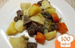 Фото рецепта: «Зпеченные овощи с мясом, маринованом в виноградном соке»
