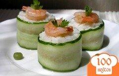 Фото рецепта: «Роллы с тунцом и креветками»