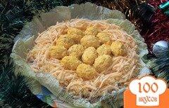 Фото рецепта: «Красивый вкусный салат «Гнездо»»