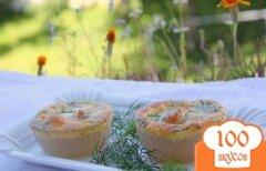 Фото рецепта: «Мини-запеканки из саго с лососем»