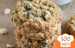 Фото рецепта: «Овсяное печенье с черникой»
