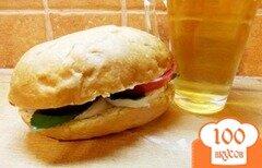 Фото рецепта: «Сэндвич куриный с мятой»