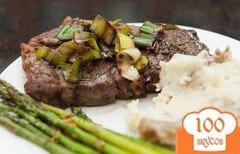 Фото рецепта: «Стейк из говядины на сковороде»