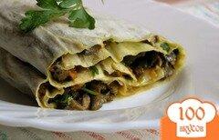 Фото рецепта: «Закуска в лаваше с грибами»