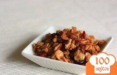 Фото рецепта: «Гранола с пеканом и сушеными ягодами»