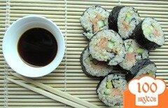 Фото рецепта: «Роллы с копченым лососем»