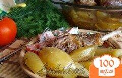 Фото рецепта: «Ароматная и сочная курица запечённая с картофелем»