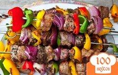 Фото рецепта: «Шашлык из баранины с овощами»