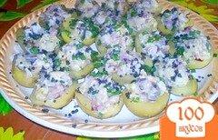 Фото рецепта: «Картофель фаршированный сельдью»