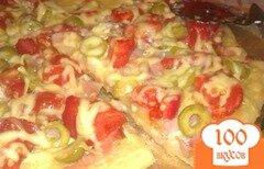 Фото рецепта: «Пицца с копченой грудинкой»