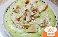Фото рецепта: «Оригинальное картофельное пюре на мясном бульоне с зеленью»