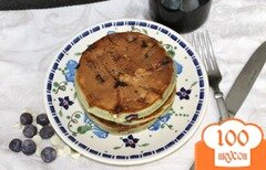 Фото рецепта: «Черничные блины с белым шоколадом»