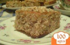 Фото рецепта: «Манник с сиропом и грецкими орехами»