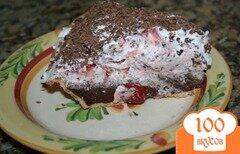 Фото рецепта: «Пирог со сливочно-вишневой начинкой»
