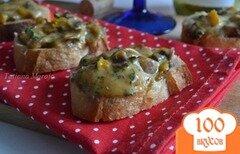 Фото рецепта: «Закусочные гренки с грибами и сыром»