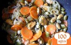 Фото рецепта: «Мидии с овощами и горчицей в белом вине»