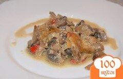 Фото рецепта: «Шампиньоны, тушенные со сладким перцем»