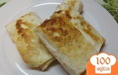 Фото рецепта: «Закуска из лаваша с яйцом и сыром»