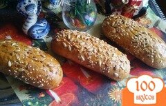 Фото рецепта: «Хлебные булочки с семечками.»