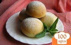 Фото рецепта: «Творожные булочки с мятным сиропом»