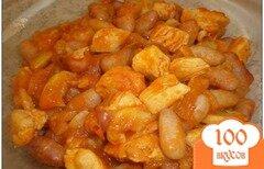 Фото рецепта: «Тушеная фасоль с грибами и курицей»