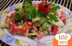 Фото рецепта: «Творожно-овощной салат»