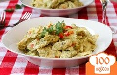 Фото рецепта: «Паста с брокколи и курицей»