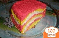 Фото рецепта: «Полосатый творожный десерт»