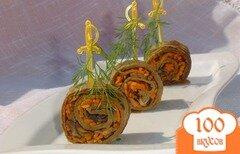 Фото рецепта: «Превосходные печеночные рулетики»