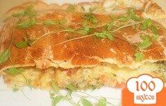 Фото рецепта: «Закрытая пицца с брокколи»