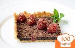 Фото рецепта: «Шоколадный пирог с малиной»